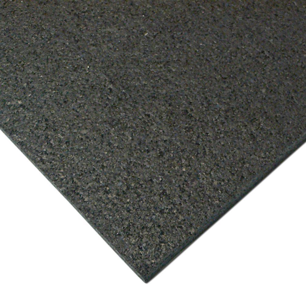 Rubber-Cal Treadmill Mat 3/16 in. x 48 in. x 90 in. Black Heavy-Duty Fitness Equipment Mat