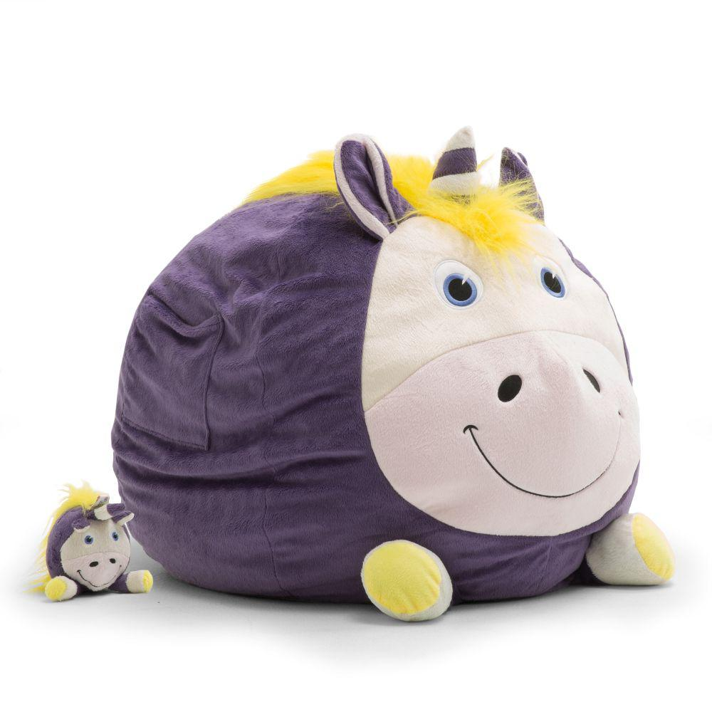 Big Joe Unice The Unicorn Cozy Purple Plush Bean Bag