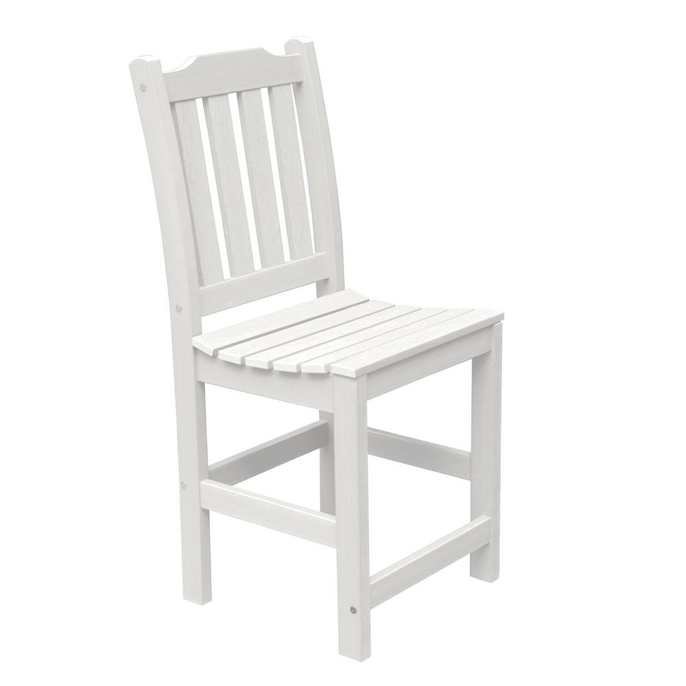 Miraculous Highwood Lehigh White Counter Height Armless Recycled Plastic Outdoor Dining Chair Ibusinesslaw Wood Chair Design Ideas Ibusinesslaworg