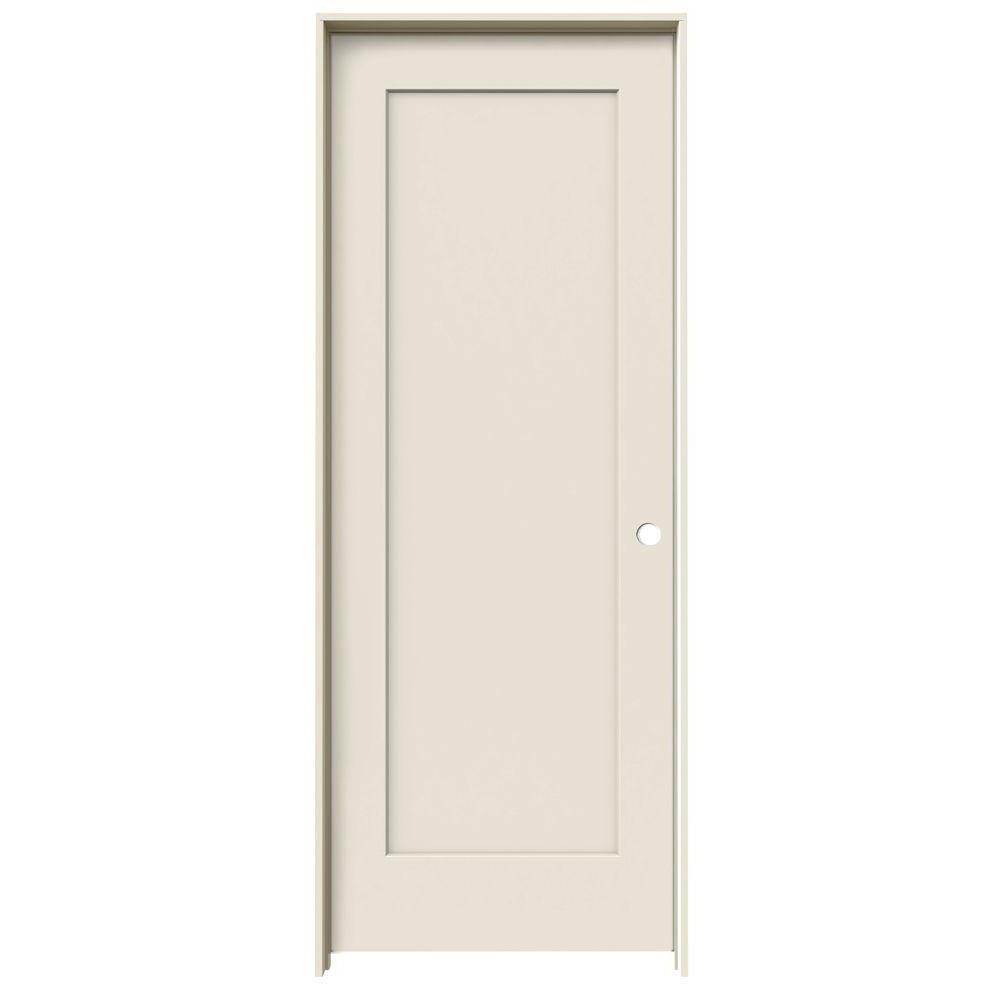 JELD-WEN 24 in. x 80 in. Madison Primed Left-Hand Smooth Molded Composite MDF Single Prehung Interior Door