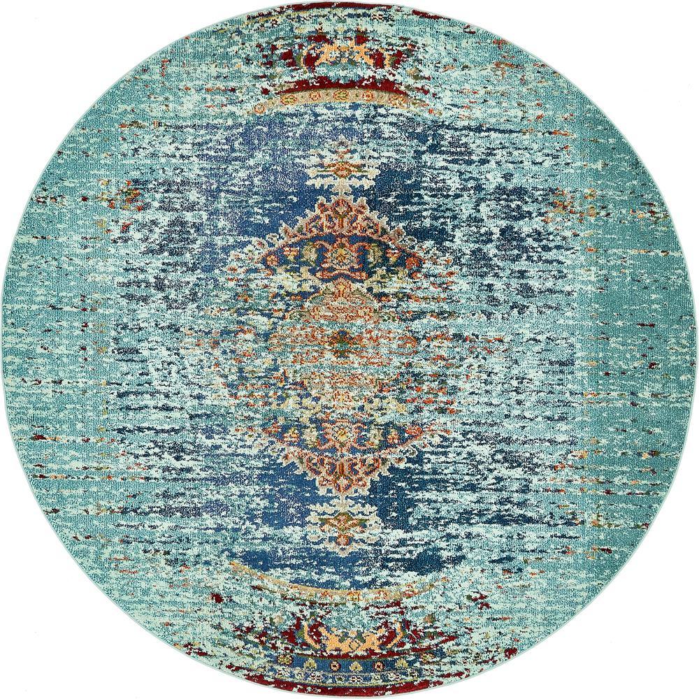 Vita Warhol Turquoise 8' 0 x 8' 0 Round Rug