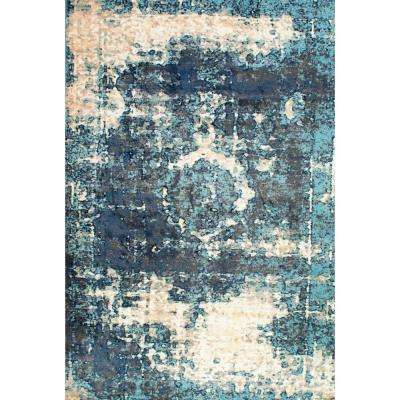 Vintage Lindsy Blue 12 ft. x 15 ft. Area Rug