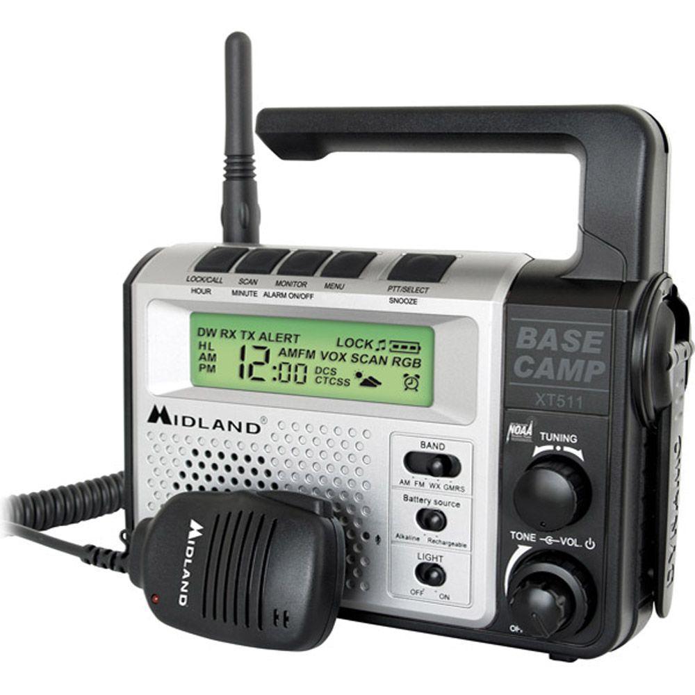 Midland 22 Channel Emergency Crank Radio with 2-Way Radio (1-Pack)