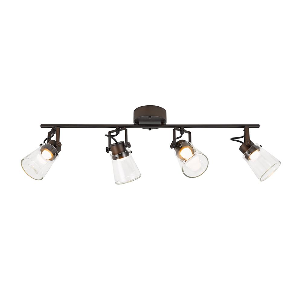 Alsy 2.5 ft. 4-Light Oil Rubbed Bronze Integrated LED Track Lighting Kit