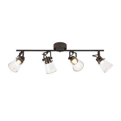 2 5 Ft 4 Light Oil Rubbed Bronze Integrated Led Track Lighting Kit