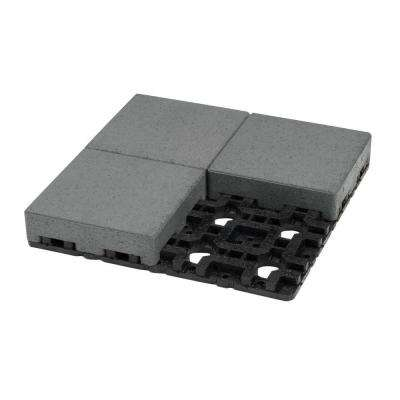 8 in. x 8 in. Waterwheel Composite Standard Paver Grid System (4 Pavers and 1 Grid)