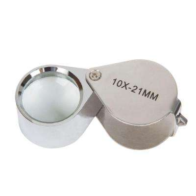 2.25 in. 10x Jewelers Eye Loupe Magnifier with Case