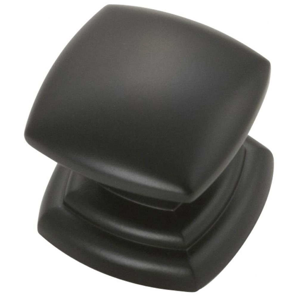 Hickory Hardware 1-1/4 in. Black Cabinet Knob