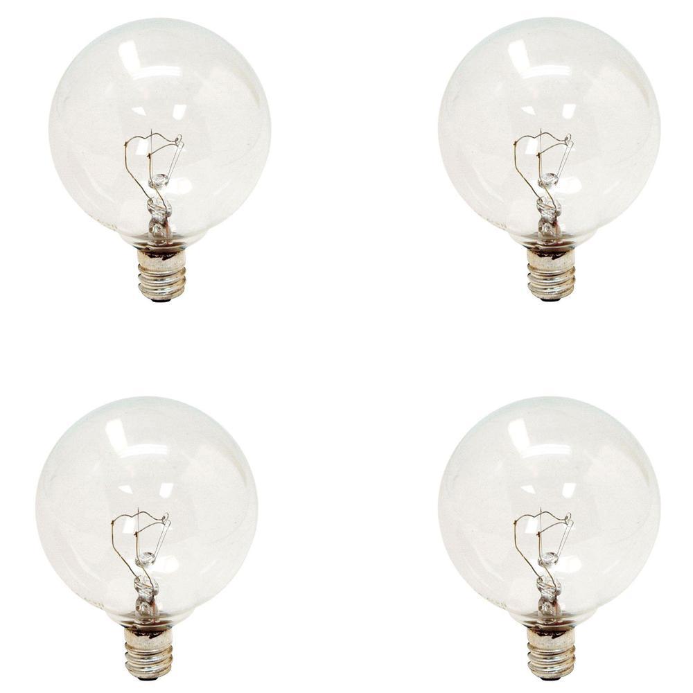 Ge 40 Watt Incandescent G16 5 Globe Candelabra Base Clear Light Bulb 4