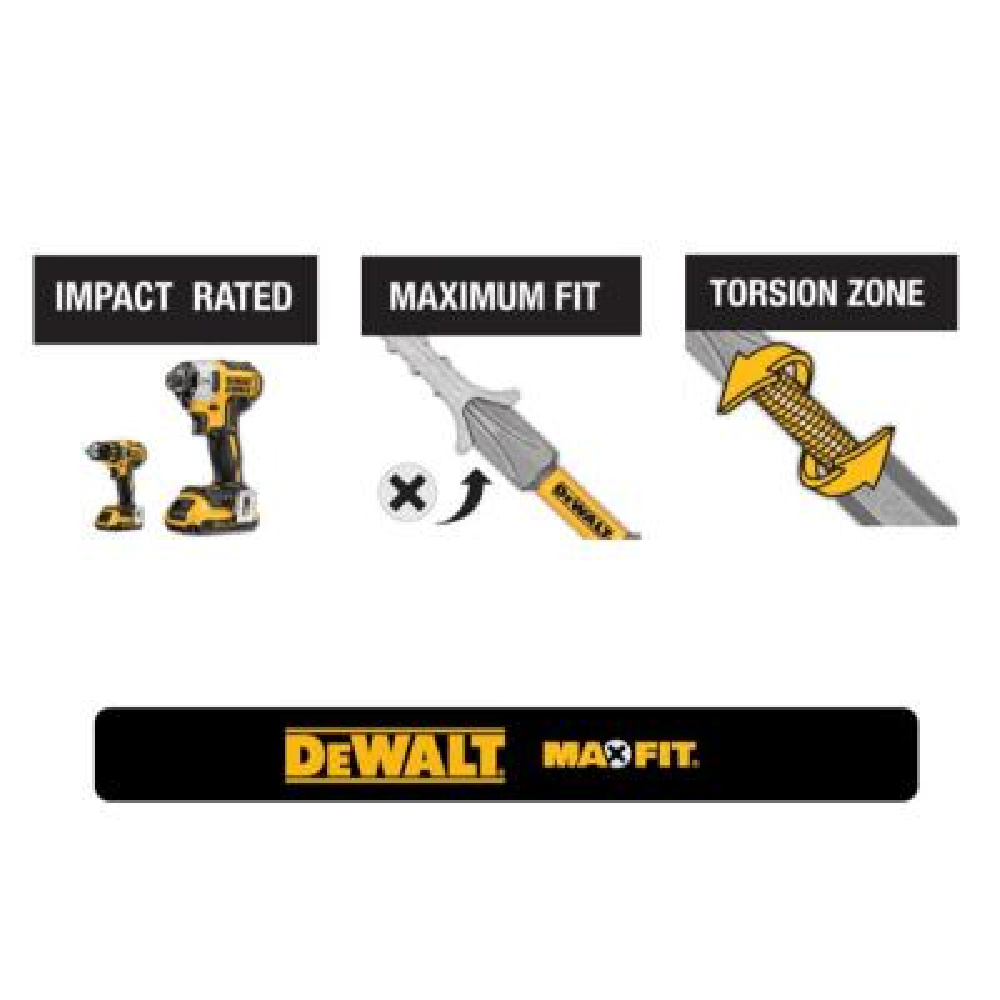 MAXFIT PH2 Drywall Screwdriving Bit (4-Piece)