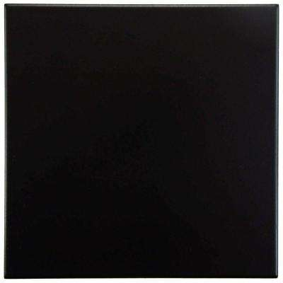 Lisse Black 13 in. x 13 in. Porcelain Floor and Wall Tile (13.2 sq. ft. / case)