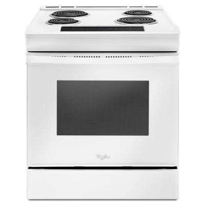 4.8 cu. ft. Single Oven Electric Range with Guided Front Control in White