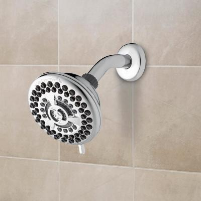 9-Spray 4.5 in. Single Wall Mount Low Flow Fixed Shower Head in Chrome