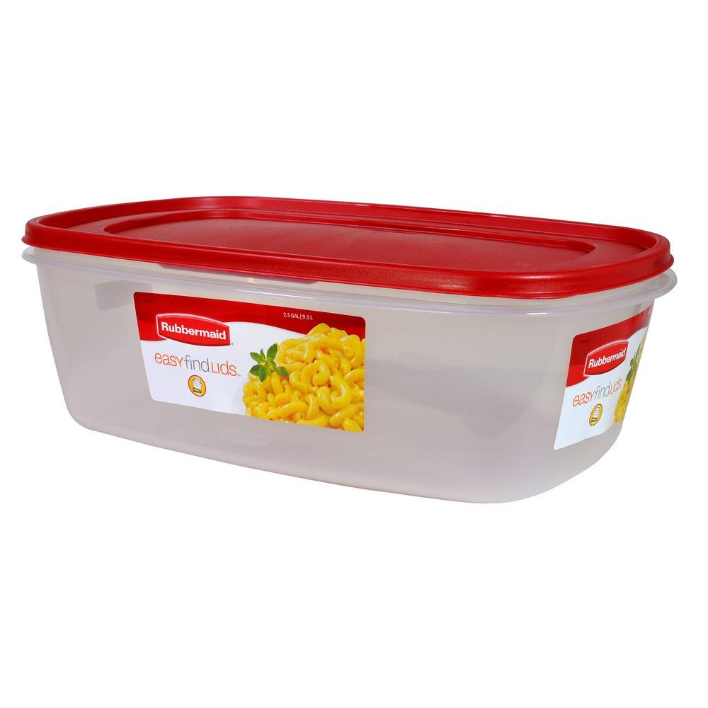 Rubbermaid 2.5 gal. Easy Find Lids Rectangular Bowl  sc 1 st  The Home Depot : rubbermaid food storage sets  - Aquiesqueretaro.Com