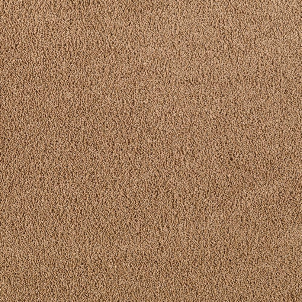 SoftSpring Cashmere II - Color Roasted Almond Texture 12 ft. Carpet