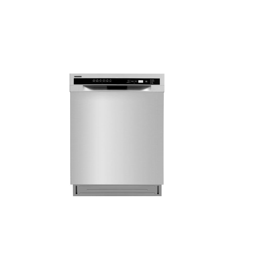 Semi Integrated 24 In Built Front Control Dishwasher Stainless Steel With Pull Down Door 52 Dba Ldw2401ss The Home Depot