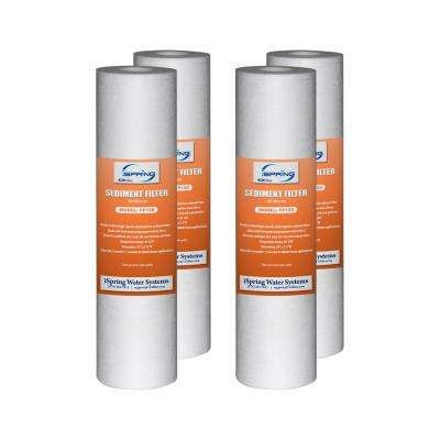 "10""x2.5"" Universal Sediment Filter Cartridges, 15,000-Gallon, Multi-layer, 4-pack"