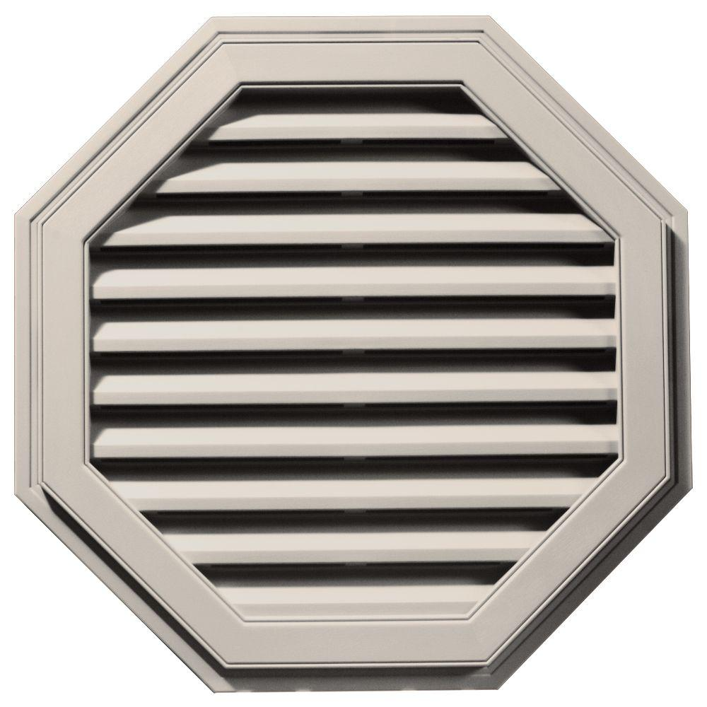 Builders Edge 32 in. Octagon Gable Vent in Almond