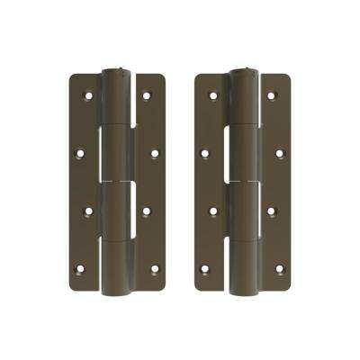 2.5 in. x 9.5 in. Aluminum Light Bronze Heavy-Duty Butterfly Hinge (2-Pack)