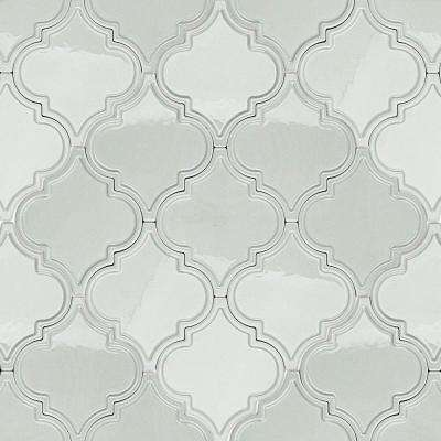 Vintage Lantern Light Blue Ceramic Mosaic Floor and Wall Tile - 0.31 in. x 0.31 in. Tile Sample
