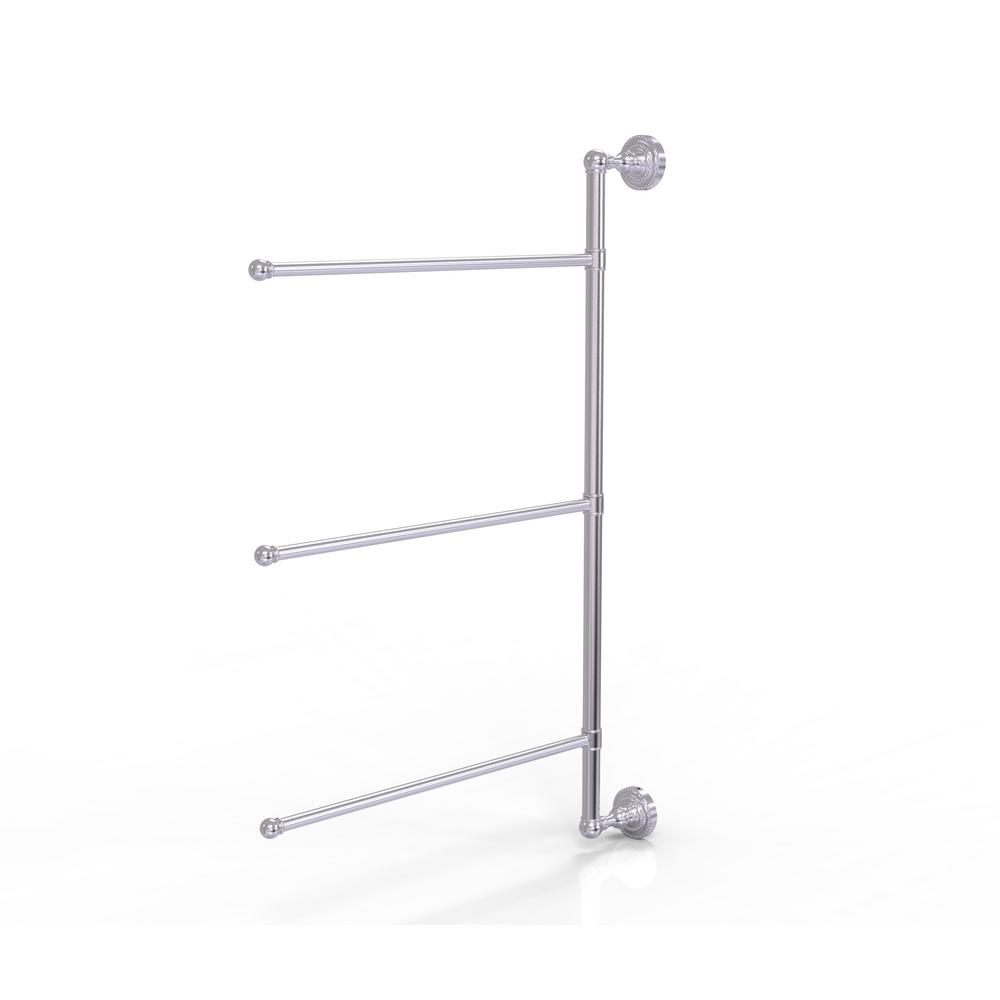 Allied Brass Dottingham Collection 20 Swing Arm Vertical 20 in. Towel Bar in  Satin Chrome DT 20/20/20/20 SCH   The Home Depot