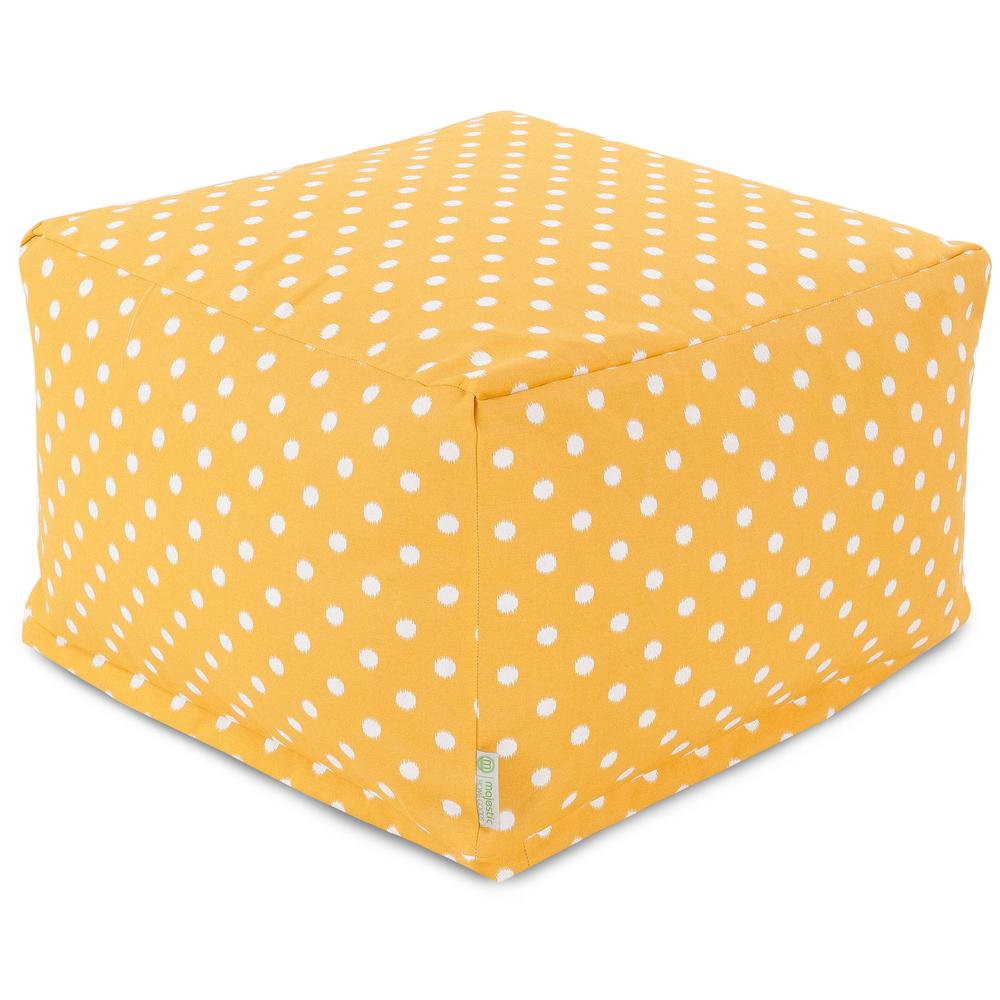 Citrus Ikat Dot Indoor/Outdoor Ottoman Cushion