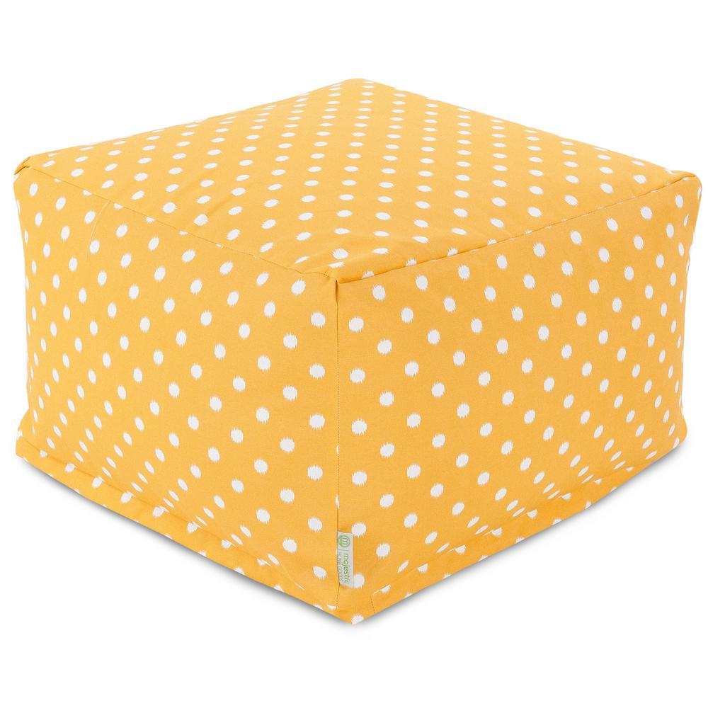 Majestic Home Goods Citrus Ikat Dot Indoor/Outdoor Ottoman Cushion