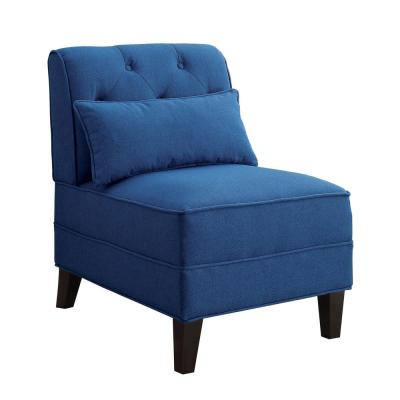 Susanna Blue Accent Chair with Pillow