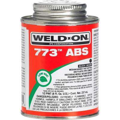 8 oz. ABS 773 Low VOC Cement in Black