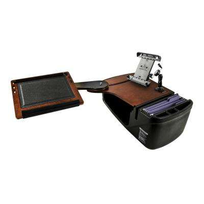 Reach Desk Back Seat Mahogany with X-Grip Phone Mount and iPad/Tablet Mount