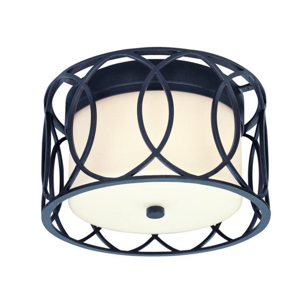 Sausalito 2-Light Deep Bronze Flush Mount