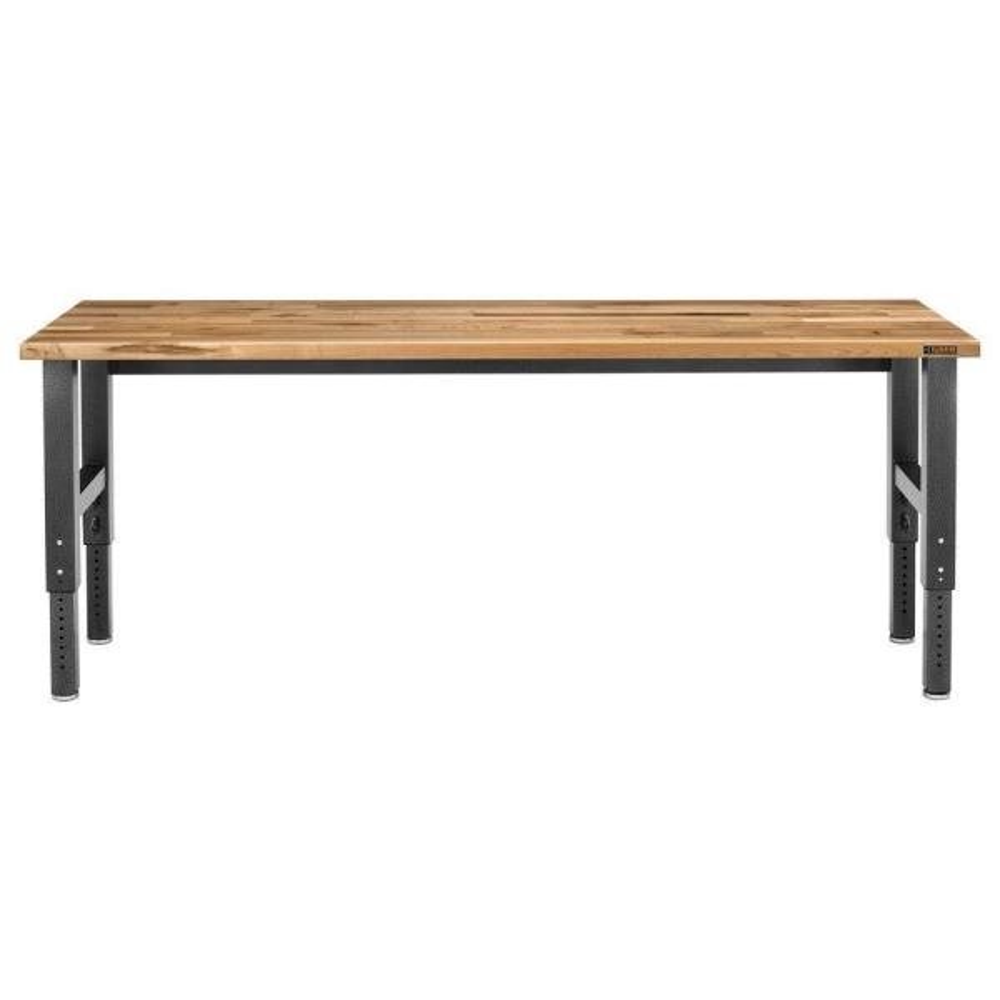 8 ft. Adjustable Height Birch Top Workbench