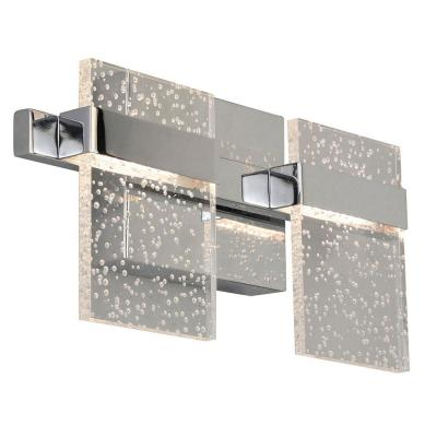 Madrona .75 in. Chrome LED Vanity Light with Clear Seedy Acrylic Shade