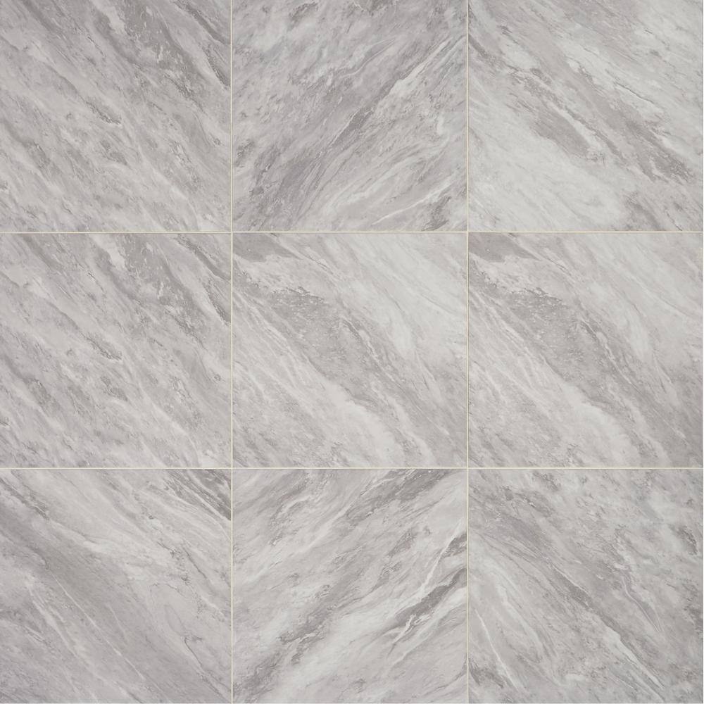 Daltile Newgate Gray Marble 20 in. x 20 in. Glazed Porcelain Floor and Wall Tile (16.26 sq. ft. / case)