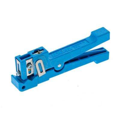 1/8 in. to 7/32 in. Coax/Fiber Ringer Stripper, Blue