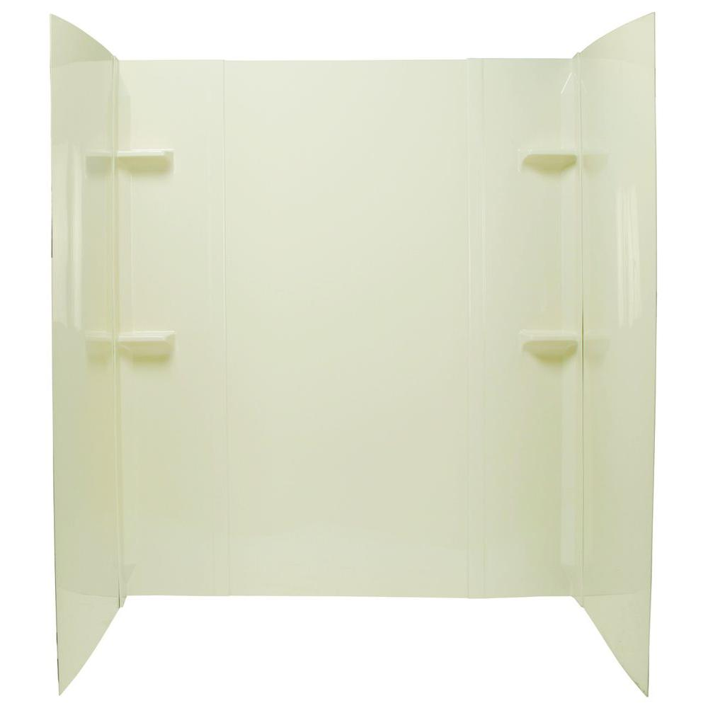 MUSTEE Durawall 40 in. x 60 in. x 71 1/2 in. 5-Piece Easy Up ...