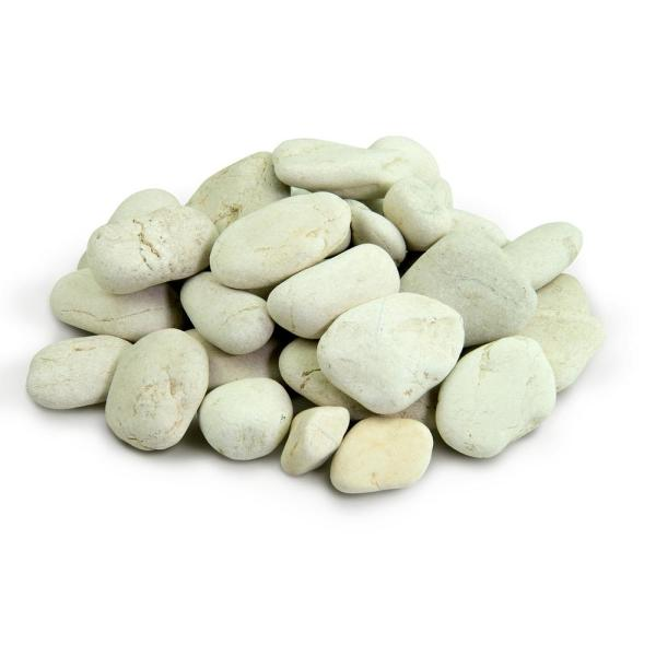 0.50 cu. ft. 1 in. to 2 in. 20 lbs. White Polynesian Landscape Rock for Gardens, Potted Plants and Terrariums