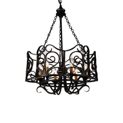 Branch 6-Light Autumn Bronze Chandelier