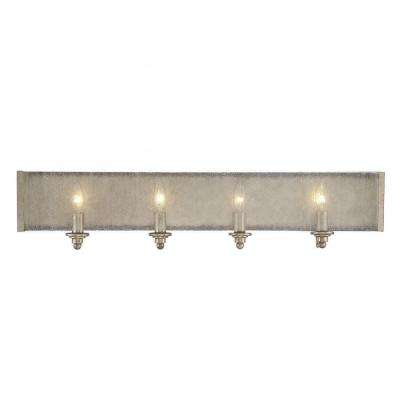Dannelly 4-Light Oxidized Silver Bath Vanity Light