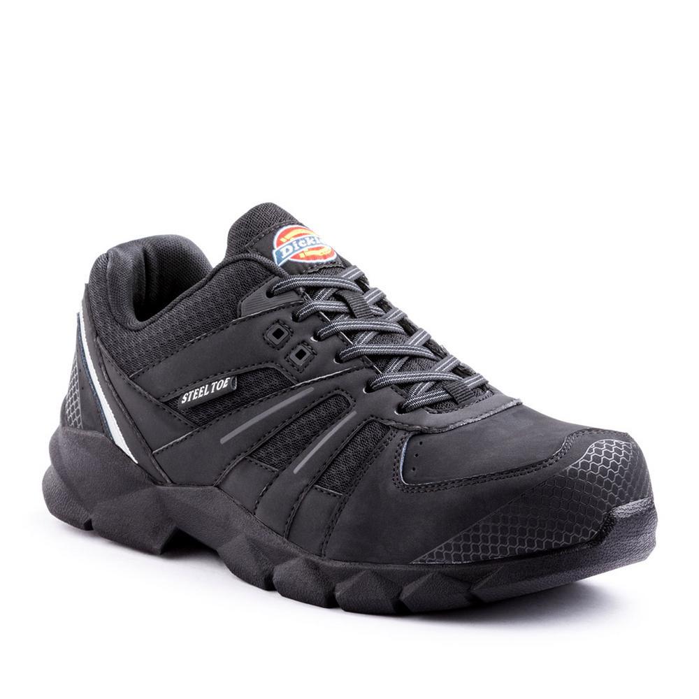 Dickies Rook Men Size 8 Medium Black Steel Toe Work Shoe