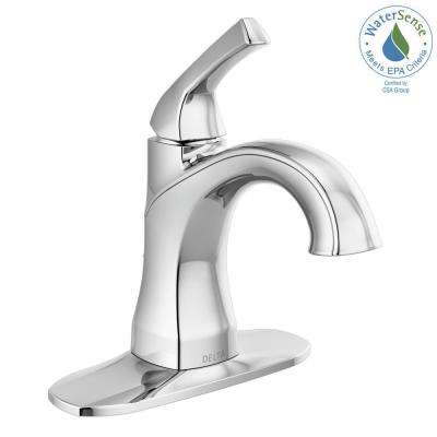 Portwood 4 in. Centerset Single-Handle Bathroom Faucet in Chrome