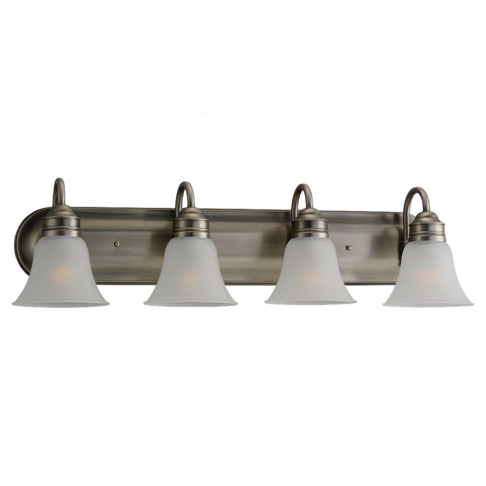 Sea gull lighting gladstone 4 light antique brushed nickel - 8 light bathroom fixture brushed nickel ...