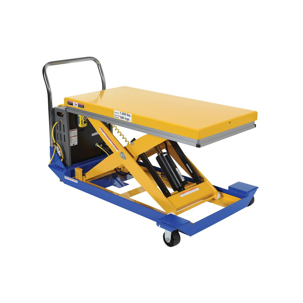 1500 lb. 48 in. x 24 in. Dc Powered Scissor Cart