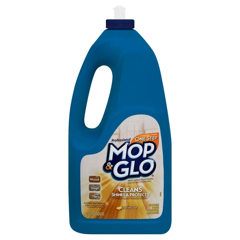 MOP GLO Oz Professional Floor Cleaner The Home Depot - How to remove mop and glo from hardwood floors