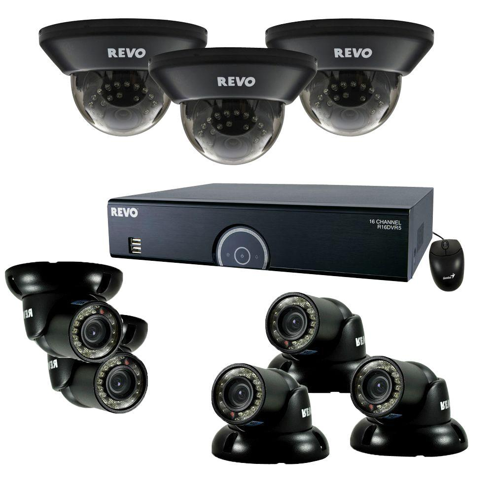 16-Channel 2TB 960H DVR Surveillance System with (8) 700 TVL 100