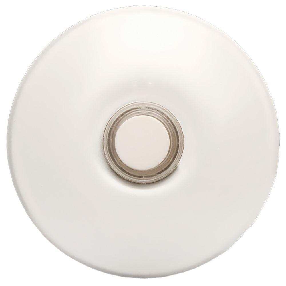 Null Wired Lighted Stucco Door Bell Push Button, White For Prime Chime Door  Bell Kit