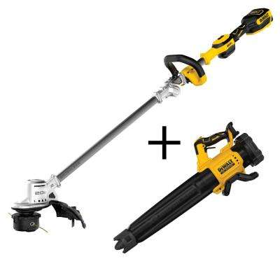 20-Volt MAX Li-Ion Brushless Cordless String Trimmer Kit with Bonus 20-Volt MAX Cordless Brushless Blower (Tool-Only)