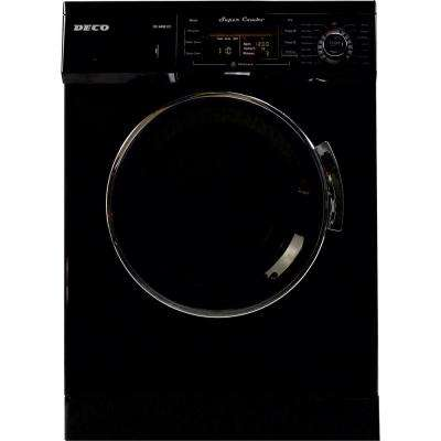 All-in-one 1200 RPM Compact Washer and Electric Ventless/Vented Dryer with Sensor Dry Feature in Black