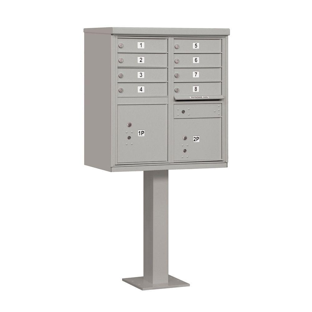 Salsbury Industries 3300 Series Gray Private 8 A Size Doors Type I Cluster Box Unit