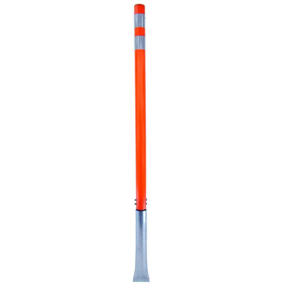 Three D Traffic Works 48 In Orange Round Delineator Post With White